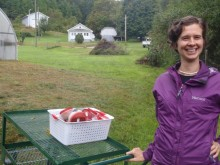 Jill Nicklaw of Sunshine Cove Farm in Watauga County